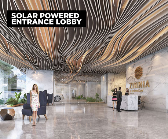 Zinnia Solar powered Lobby